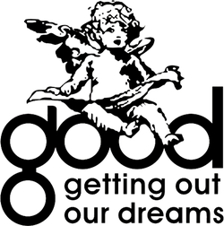 The logo of West's GOOD Music imprint.