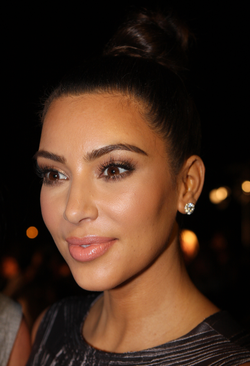 West's wife Kim Kardashian, pictured in September 2012