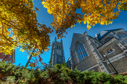 Thompson Chapel and Lasell Gym bell towers