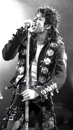 Michael Jackson, performing in 1988.