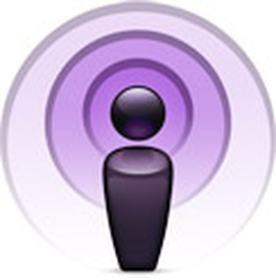 The icon used by Apple to represent a podcast