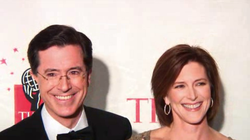 Stephen Colbert and his wife Evelyn McGee-Colbert at the 2006                                 Time 100