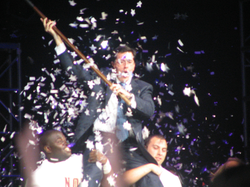 Colbert during an appearance at                                 Florida State University