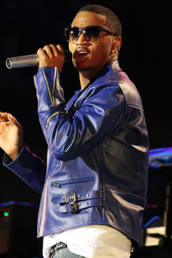 Trey Songz performing in 2012