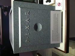 A Pixar Computer at the Computer History Museum with the 1986–95 logo on it.