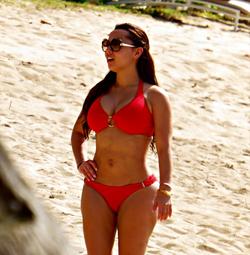 Adrienne in a bikini