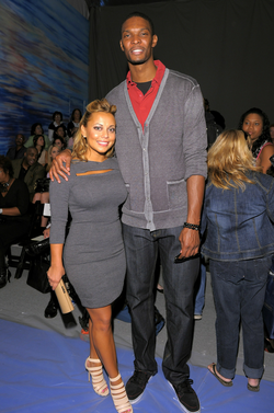 Adrienne and Chris Bosh