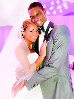 Photo from Adrienne and Chris Bosh's wedding