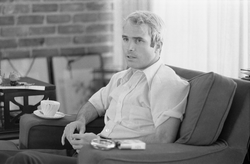 McCain giving an interview to the press on April 24, 1973, after his return from Vietnam. Photo by   US News and World Report   .