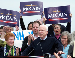 Formally announcing his intention to run for the Presidency in  Portsmouth, New Hampshire  in 2007.