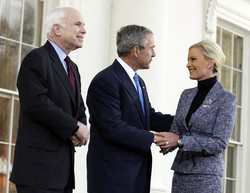 On March 5, 2008,  President Bush  met with the McCains, endorsing the presumptive nominee.