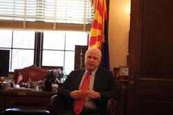 McCain in his Senate office, November 2010
