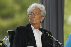 On 28 June 2011,                                 Christine Lagarde                                was named managing director of the IMF, replacing Dominique Strauss-Kahn.