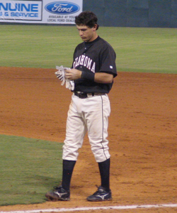 Kinsler with the                                 Oklahoma RedHawks                                in September                                 2005