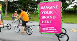 Mobile Billboard in                                 East Coast Park, Singapore                                .