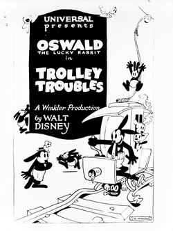 Theatrical poster for Trolley Troubles (1927)