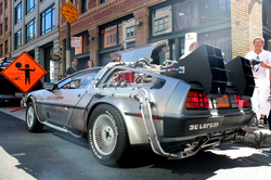 "DeLorean ""time machine"" provided by Uber"