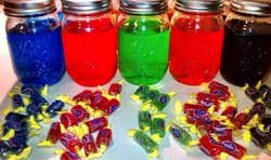 Jolly Rancher mixed drinks.