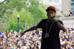 Wiz Khalifa performing at Columbia University in New York City in April 2010.