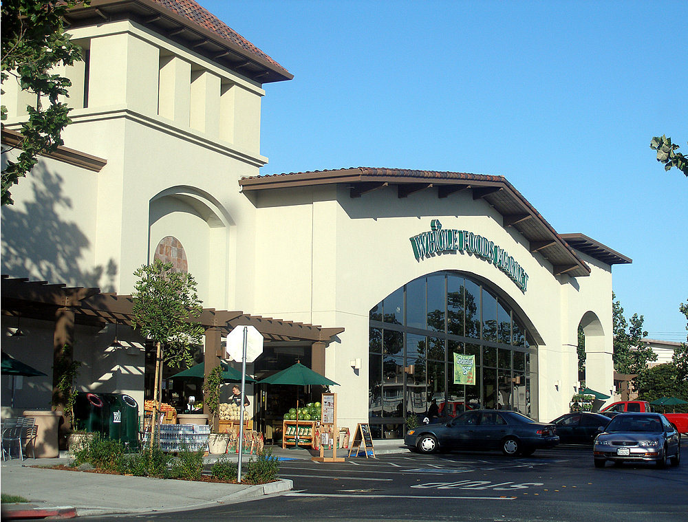 Whole Foods Market suburban store in Redwood City, California
