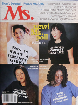 Goldberg (lower right) on the Spring 2003 cover of Ms. magazine