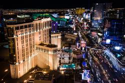 The                                 Las Vegas Strip                                , primarily located in                                 Paradise                                .