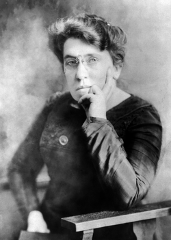 American anarchist                                 Emma Goldman                                , prominent                                 anarcha-feminist                                ,                                 free love                                and                                 freethought                                activist
