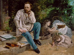 Pierre-Joseph Proudhon, the first self-identified anarchist