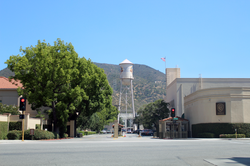 Gate 4, Warner Bros. Studios, looking south towards the water tower.