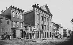 Ford's Theatre in the 19th century, site of the 1865 assassination of President Lincoln