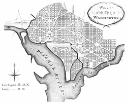 The L'Enfant Plan for Washington, D.C., as revised by Andrew Ellicott in 1792