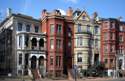 Row houses on Logan Circle