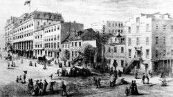 Washington's Newspaper Row on Pennsylvania Avenue in 1874
