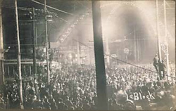 The mob-style                                 lynching                                of Will James,                                 Cairo, Illinois                                , 1909.
