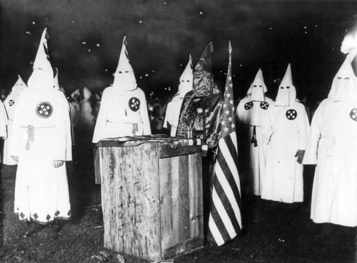KKK night rally in Chicago, c. 1920