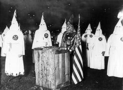 KKK night rally in                                 Chicago                                , c. 1920