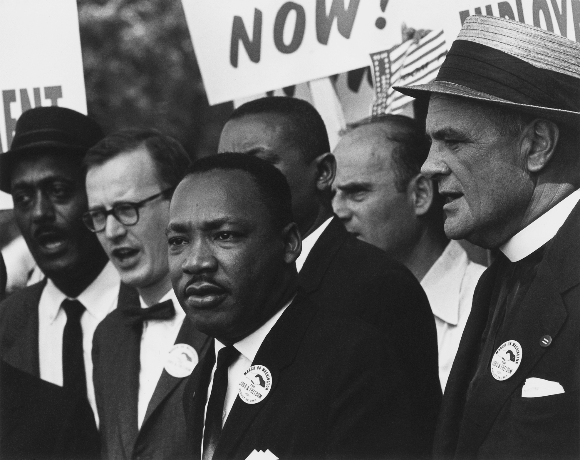 Martin Luther King, Jr. at a Civil Rights March on Washington, D.C.