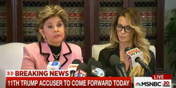 Jessica with her lawyer                               Gloria Allred                              during the press conference