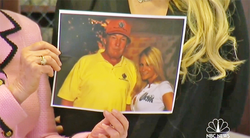 Photo of Jessica Drake and Donald Trump together from the golf tournament on the day of the alleged sexual assault