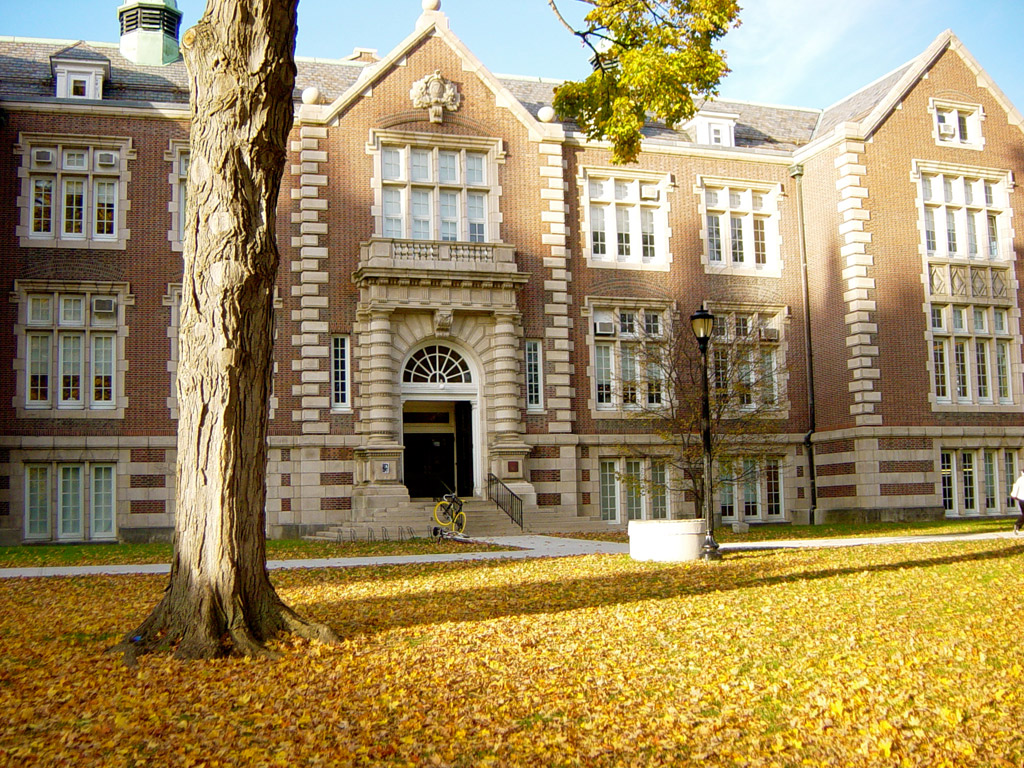 Rockefeller Hall, built in 1897, is home to the departments of Political Science, Philosophy, and Mathematics.
