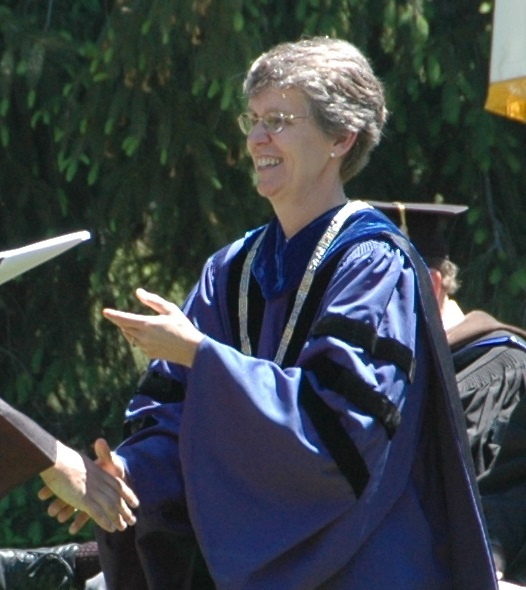 Current college president Hill in 2008