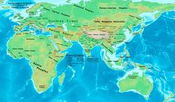 Eastern Hemisphere in 500 BC.