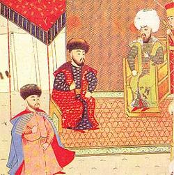 Crimean Khan, Mengli Giray at the court of the Bayezid II.