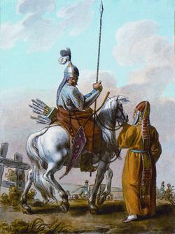 Bashkirs, painting from 1812, Paris