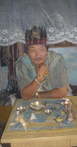 A shaman doctor of Kyzyl.