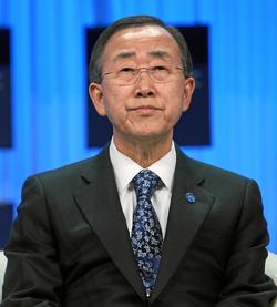 The current                                 Secretary-General                                ,                                 Ban Ki-moon