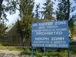 UN Buffer Zone in Cyprus was established in 1974 following the Turkish invasion of Cyprus.