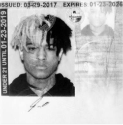 Official release photo of Xxxtentacion.