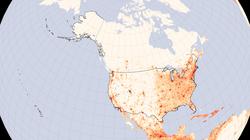 U.S. population density in 2005