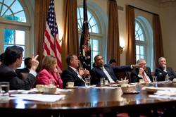 President Obama meets with congressional leadership in 2011.[33]
